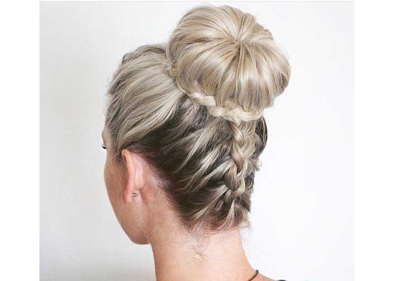 Peinados con trenzas recogidos elegantes y sencillos de - Como hacer recogidos para bodas ...