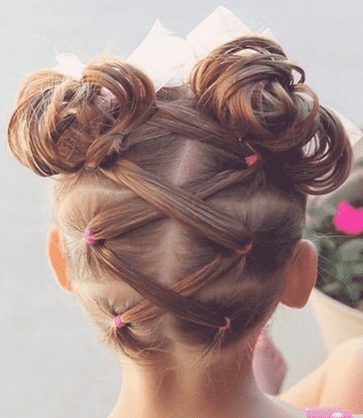 12 Peinados Infantiles Con Cauchitos De Colores